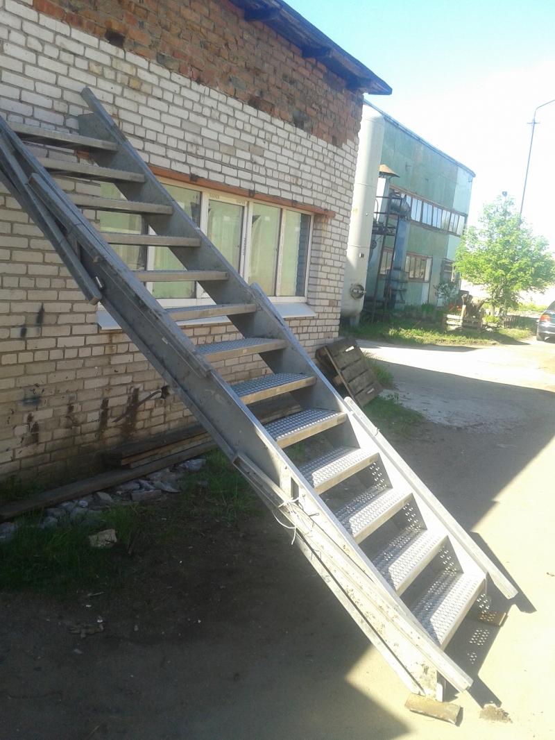 Лестница раздвижная Нержавейка
